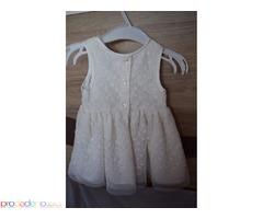 Бяла бебешка рокля внос от Англия