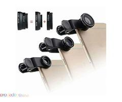 Лещи за камера на мобилен телефон 3 в 1, Fisheye, Wide-angle( широкоъгълна) и Macro( увеличителна)