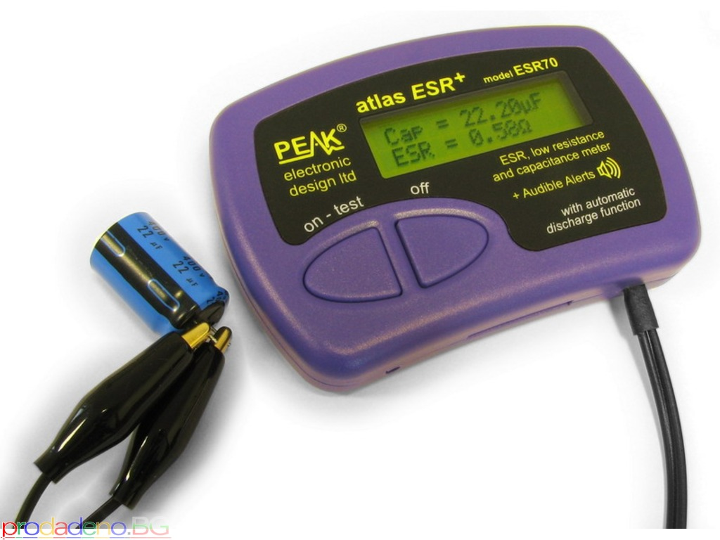 PEAK Atlas ESR+ – Измервател на Еквивалентно последователно съпротивление (ESR) и капацитет - 1/3