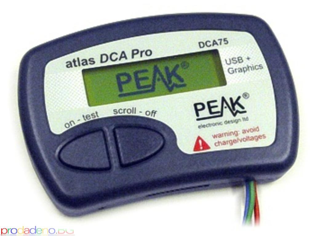 PEAK Atlas DCA Pro – Анализатор на Полупр. Компоненти c Графичен Дисплей и връзка с компютър - 1/3