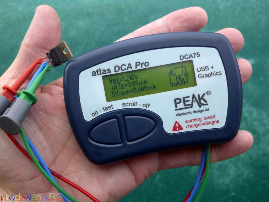 PEAK Atlas DCA Pro – Анализатор на Полупр. Компоненти c Графичен Дисплей и връзка с компютър - 2/3